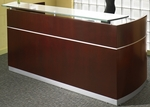 Napoli Reception Station with No Pedestals - Sierra Cherry on Cherry Veneer [NRSCRY-FS-MAY]