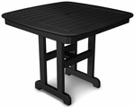 POLYWOOD® Nautical 37'' Dining Table - Black [NCT37BL-FS-PD]