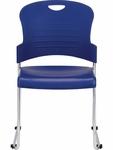 Aire S5000 18'' W x 23'' D x 34'' H Plastic Stack Side Chair - Navy Blue [S5000-NAVY-FS-EURO]