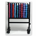 Neoprene Dumbbell Set with Rack and Wheels [1257571-FS-AC]