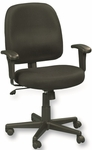 Newport 26'' W x 25'' D x 35.5'' H Adjustable Height Mid Back Mesh Task Chair - Black [MT5241-F241-FS-EURO]