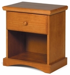 Rustic Style 20''W x 13''D Solid Pine Nightstand - Honey [3641120-FS-CHEL]