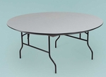 NLW Series Lightweight Plastic 48''Diameter Round Folding Table - 30''H [R60NLW-MFT]