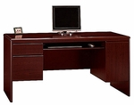 Northfield Wooden 61.6''W X 30.8''H Computer Credenza with Pull Out Keyboard Tray - Cherry [EX17712-FS-BHF]