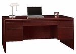 Northfield Wooden 66.6''W X 30.8''H Double Pedestal Computer Desk with 4 Drawers - Cherry [EX17718K-FS-BHF]