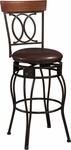 O & X Back 24''H Swivel Counter Stool [02564MTL-01-KD-U-FS-LIN]