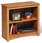 Functional 31.5''W 2-Shelf Bookcase with 1 Adjustable Shelf - Oak [ODL-3229-FS-PP]
