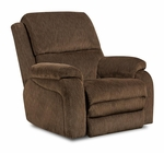 Oakdale Transitional Style Polyester Blend Power Recliner - Gazette Basil [189570-7980-PWR-FS-CHEL]