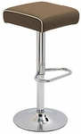 Octave Adjustable Bar Stool with a Square Upholstered Seat - Grade C [OC9288-CH-S-C-FS-DV]