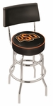Oklahoma State University 25'' Chrome Finish Swivel Counter Height Stool with Double Ring Base [L7C425OKSTUN-FS-HOB]