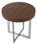 Oliver Side Table in Walnut [28042A-28042B-FS-ERS]