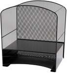 Onyx™ Hanging File with Two Horizontal Sorters Mesh Desk Organizer - Black [3260BL-FS-SAF]