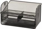 Onyx™ 11.75'' W x 9.25'' D x 7'' H Mesh Telephone Stand with Drawer - Set of Five - Black [2160BL-FS-SAF]