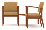 Amherst Series Open Arm Guest Chairs with Connecting Corner Table [K2421G5-FS-RO]