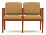 Amherst Series Open Arm 2 Seats with Center Arm [K2403G5-FS-RO]