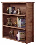 Rustic Style 43''W x 49''H Solid Pine Bookcase - Mahogany Stain [31309-FS-CHEL]
