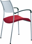 Open End Molded Back and Upholstered Seat Stack Chair [OE12010-FS-DV]