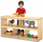 Two-Sided Stationary Open Toddler Shelf [3198JC-JON]