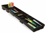 Optima 16 Divided Compartments Art Tray with Side Mounts - Black [18694B-FS-SDI]