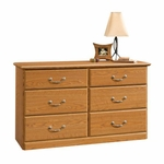 Orchard Hills 51''W x 30''H 6 Drawer Wooden Dresser - Carolina Oak [401410-FS-SRTA]