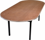 Original Series Race Track Banquet Table with Plywood Top - 72''D x 36''W x 30''H [DPORIG3672RACE-MFC]