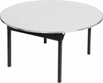 Original Series Round Banquet Table with Aluminum Edge and Mayfoam Top - 30'' Diameter [DFORIG30RD-CAE-MFC]