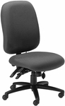 24 Hour High Performance Armless Office Chair with 300 lb Capacity - Gray Fabric [2424AG2110-FS-MAY]