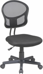 OSP Design Mesh Task Office Chair with Seat Heigh Adjustment and Casters - Black [EM39800-3-FS-OS]