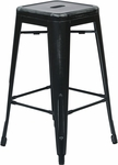 OSP Designs Bristow 26'' Backless Antique Metal Barstools - 2-Pack - Antique Black [BRW3026A2-AB-FS-OS]