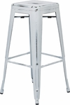 OSP Designs Bristow 30'' Backless Antique Metal Barstools - 2-Pack - Antique White Finish [BRW3030A2-AW-FS-OS]