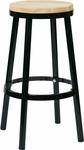OSP Designs Bristow 30'' Metal Backless Barstool with Metal Legs - Black [BRW3230-3-FS-OS]