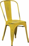 OSP Designs Bristow Stackable Armless Metal Chair - Set of 2 - Antique Yellow [BRW29A2-AY-FS-OS]