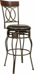 OSP Designs CSM25 24'' Cosmo Metal and Faux Leather Seat Swivel Barstool - Espresso [CSM2524-ES-FS-OS]