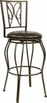 OSP Designs CSM27 30'' Cosmo Metal and Faux Leather Seat Swivel Barstool - Espresso [CSM2730-ES-FS-OS]