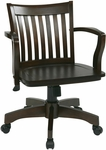 OSP Designs Deluxe Wood Banker's Chair with Wood Seat - Espresso Wood [105ES-FS-OS]