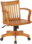 OSP Designs Deluxe Wood Banker's Chair with Wood Seat - Fruit Wood [105FW-FS-OS]