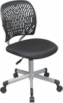 OSP Designs Designer Mesh Seat Computer Task Chair with Seat Height Adjustment and Casters - Black [166006-3-FS-OS]