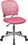 OSP Designs Designer Mesh Seat Computer Task Chair with Seat Height Adjustment and Casters - Pink [166006-355-FS-OS]