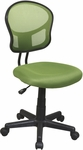 OSP Design Mesh Task Office Chair with Seat Heigh Adjustment and Casters - Green [EM39800-6-FS-OS]