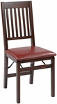 OSP Designs Hacienda ''Mission Back'' Folding Chair - Set of 2 - Red [HA424-RD-OS]