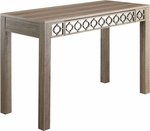 OSP Designs Helena Writing Desk with Mirror Accent Panel - Greco Oak Finish [HLN25-GK-FS-OS]