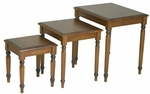 OSP Designs Knob Hill 3-Piece Wood Nesting Tables - Cherry [KH19-FS-OS]