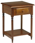 OSP Designs Knob Hill Wood Accent Table with Storage Drawer and Shelf - Cherry [KH17-FS-OS]