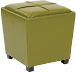 OSP Designs Metro 2-Piece Eco Leather Ottoman Set - Kiwi Green [MET361BKI-FS-OS]