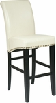 OSP Designs 30'' Metro Eco Leather Parsons Barstool with Nail Head Trim - Cream [MET8730CM-FS-OS]