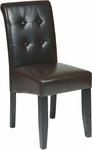 OSP Designs Metro Eco Leather Button Back Parsons Chair - Espresso [MET88ES-FS-OS]