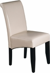 OSP Designs Eco Leather Metro Parsons Dining Chair - Cream [MET86CM-FS-OS]
