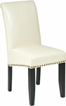 OSP Designs Metro Parsons Eco Leather Dining Chair with Nail Head Trim - Cream [MET87CM-FS-OS]