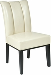 OSP Designs Metro Eco Leather Pleated Back Parsons Chair - Cream [MET89CM-FS-OS]
