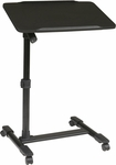 OSP Designs Loften Mobile Laptop Cart with Adjustable Top - Black [LT733-3-FS-OS]